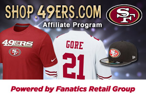 competitive price 953f3 d1b19 ShareASale.com and San Francisco 49ers Team Shop